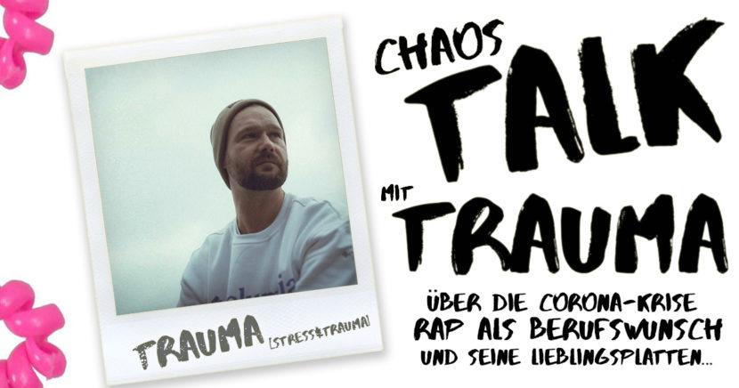 Header CHAOSTALK mit David Stoebel aka TRAUMA